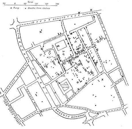 Snow-cholera-map fit