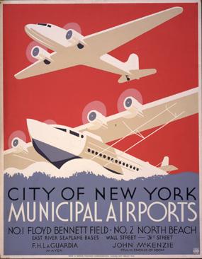 WPA NY Airport poster