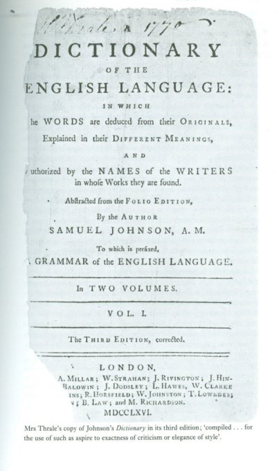 Johnson dictionary