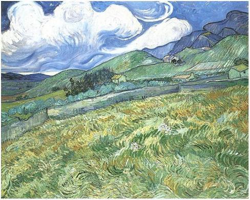Van gogh mountainous landscape