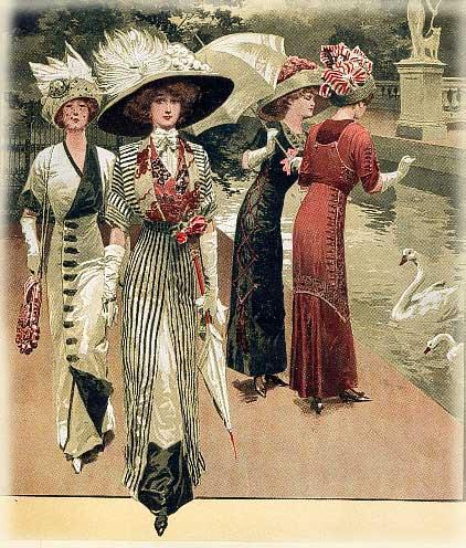 1912_bwdresses_giant hats
