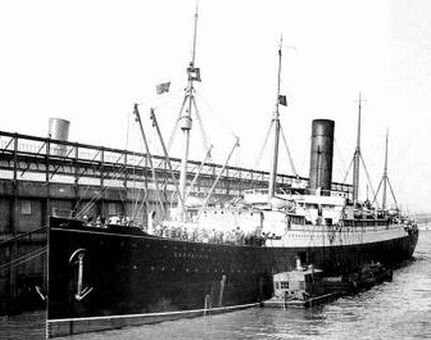 Carpathia docks new york